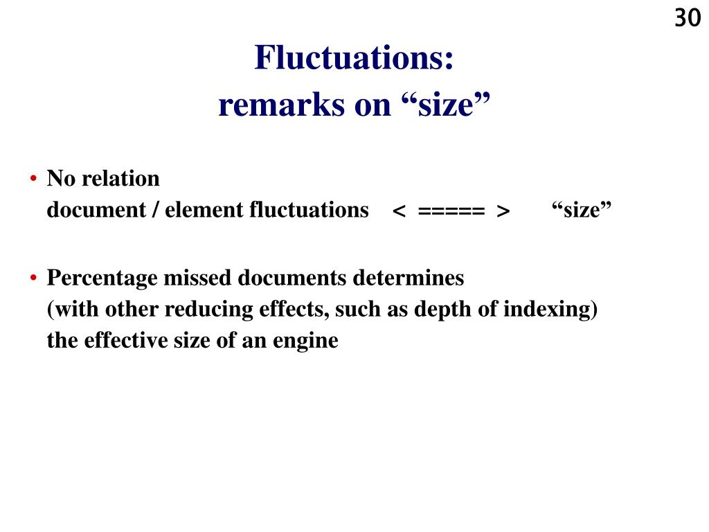 Fluctuations: