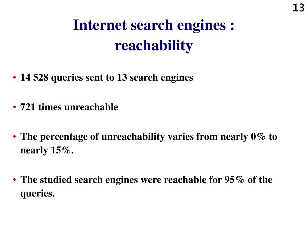 Internet search engines :