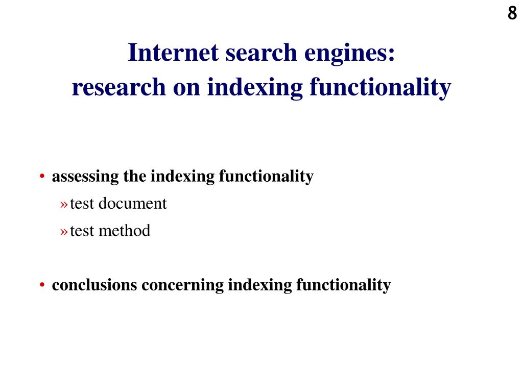 Internet search engines: