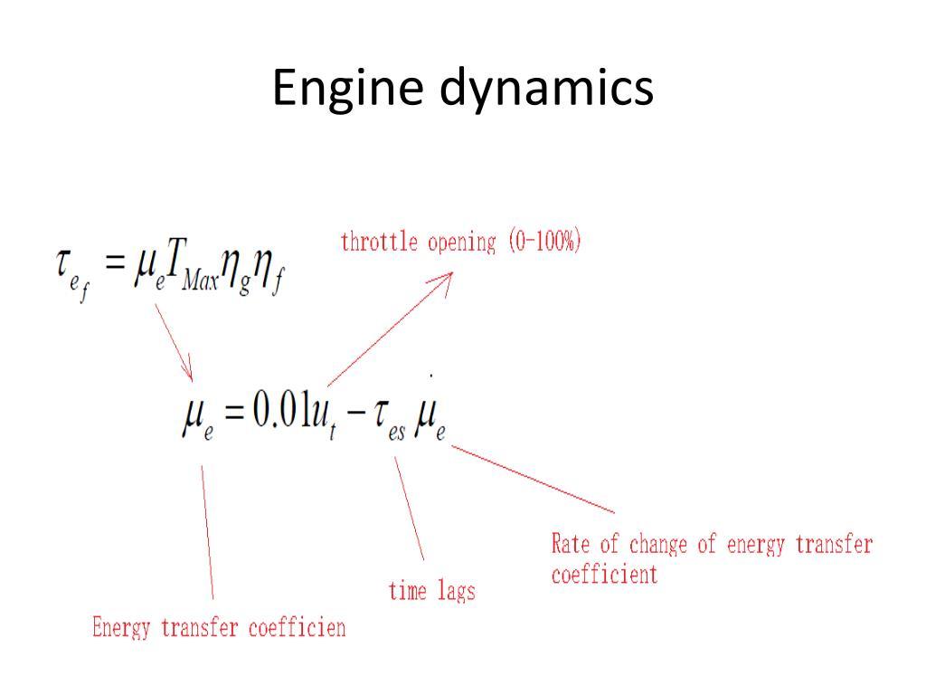 Engine dynamics