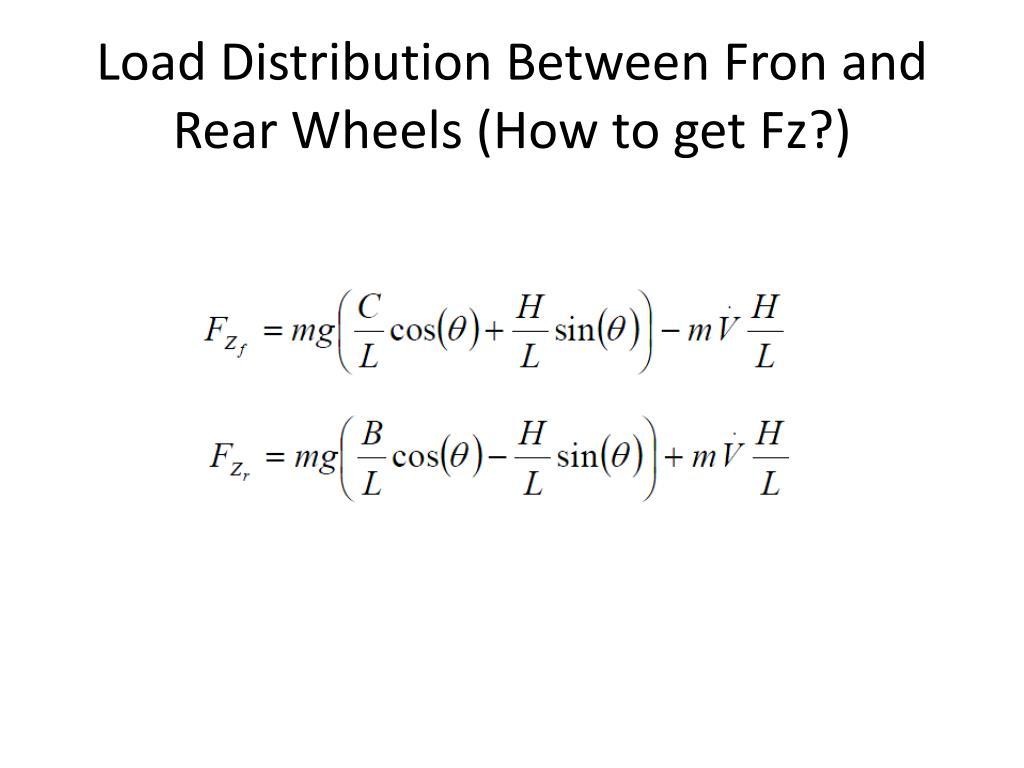 Load Distribution Between