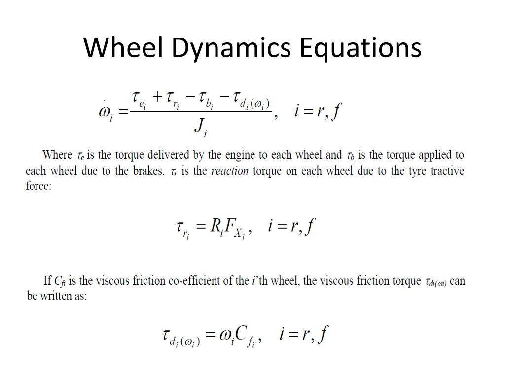 Wheel Dynamics Equations