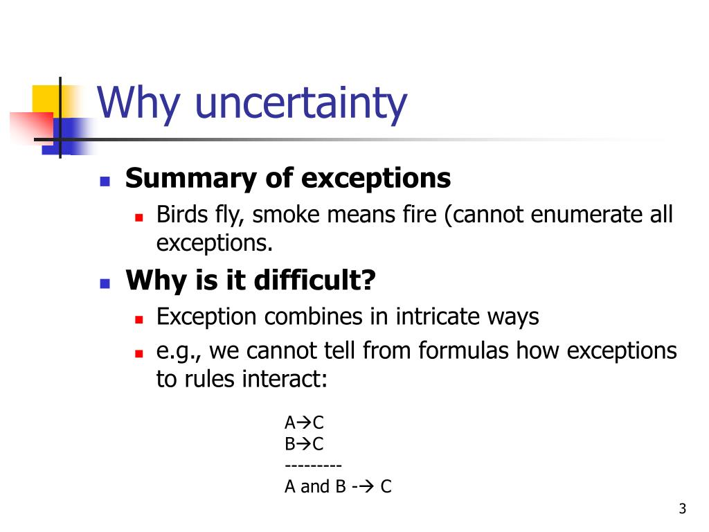 Why uncertainty