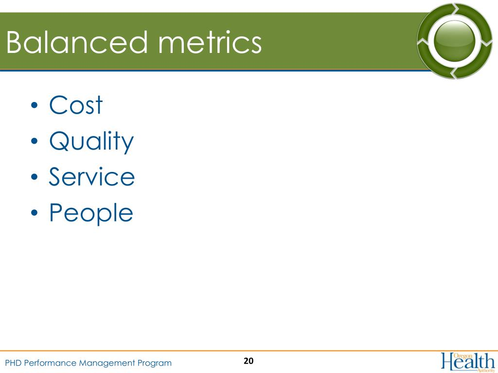 Balanced metrics