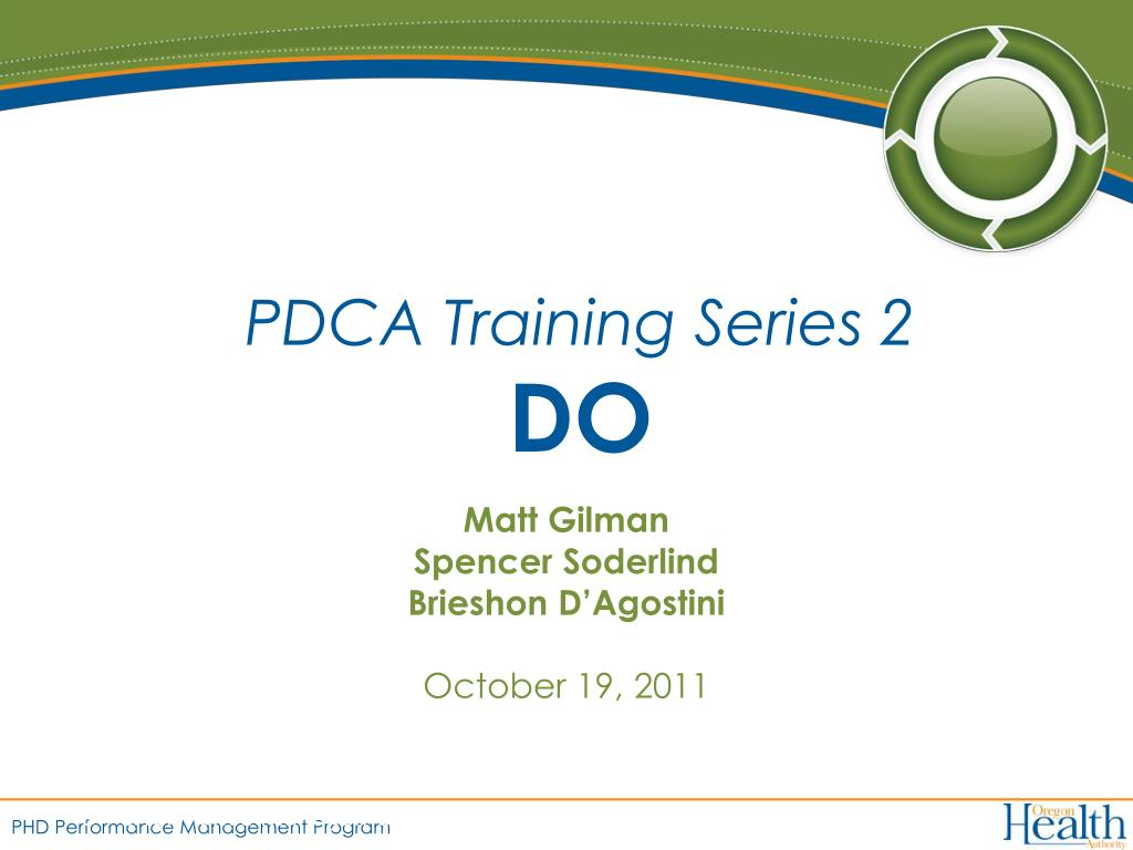PDCA Training Series 2