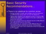 basic security recommendations