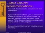 basic security recommendations20