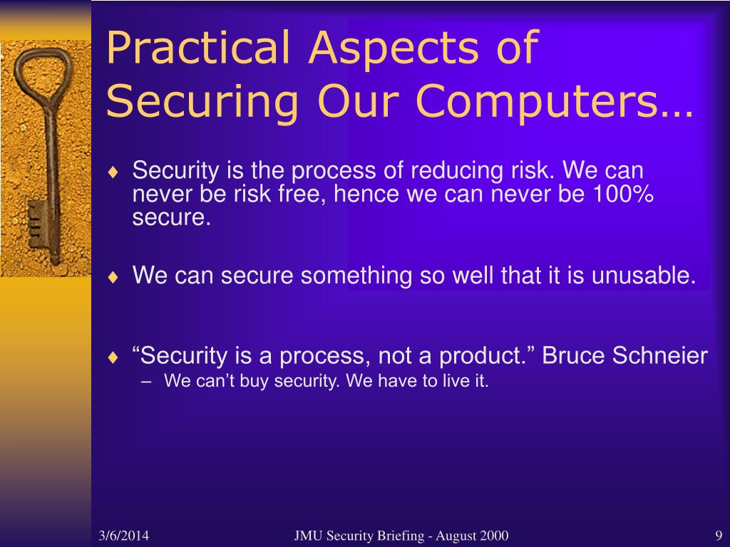 Practical Aspects of Securing Our Computers…