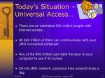 today s situation universal access