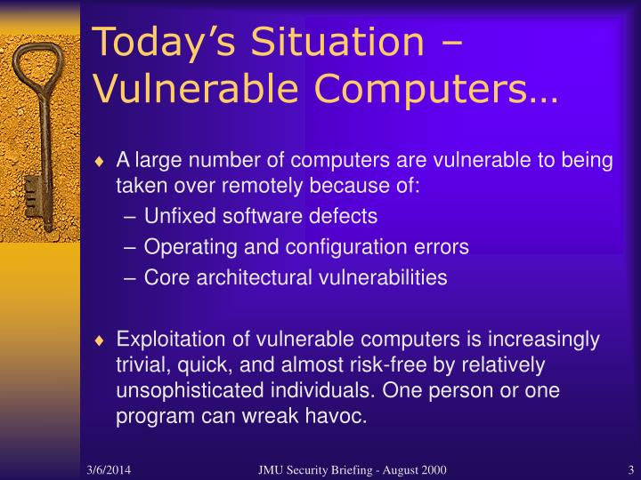 Today s situation vulnerable computers l.jpg