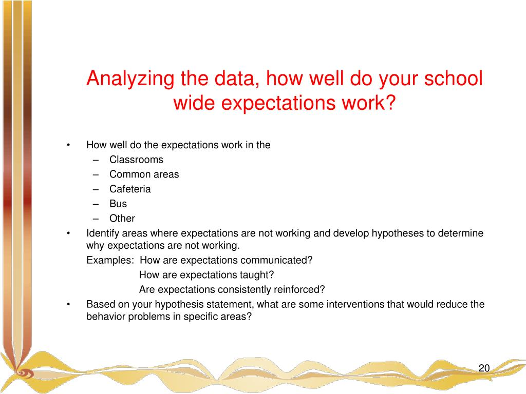 Analyzing the data, how well do your school wide expectations work?