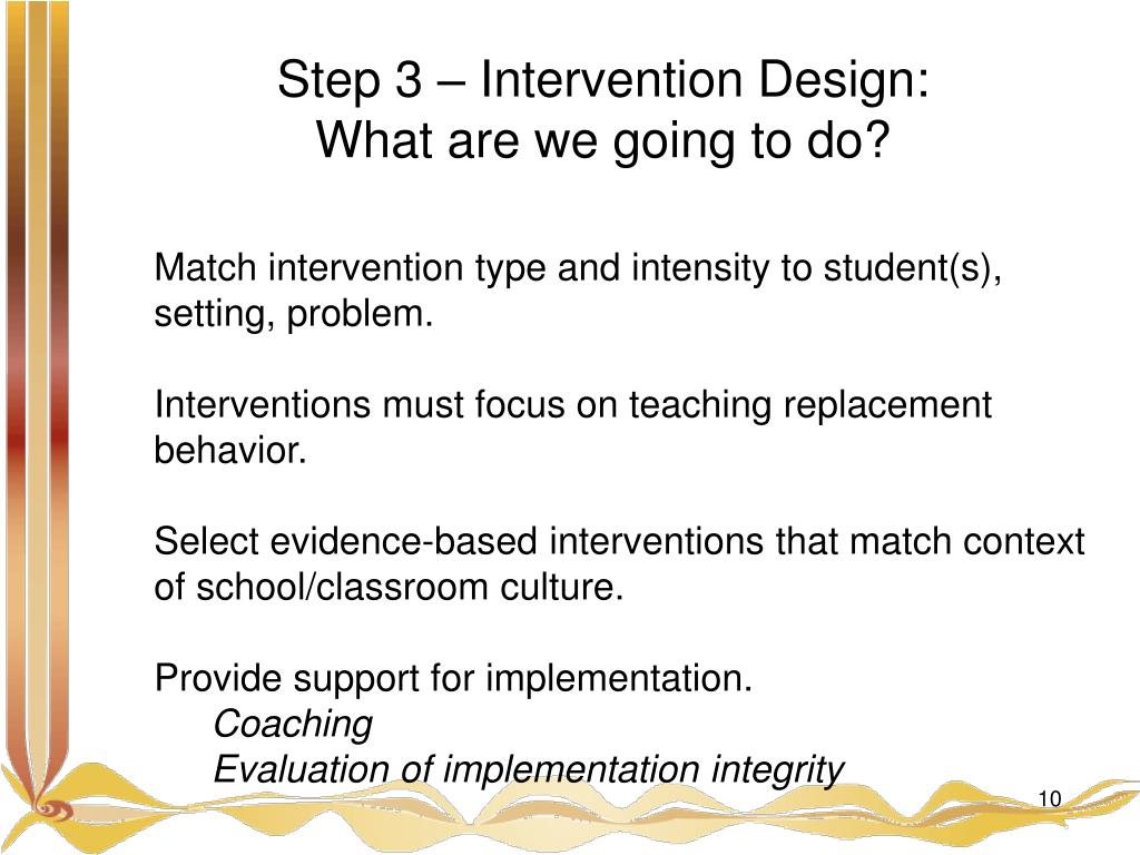Step 3 – Intervention Design: