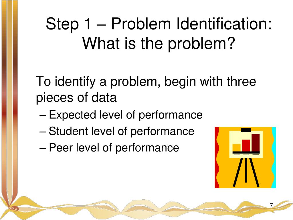Step 1 – Problem Identification:
