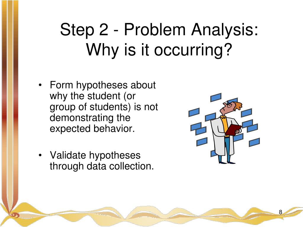Form hypotheses about why the student (or group of students) is not demonstrating the expected behavior.