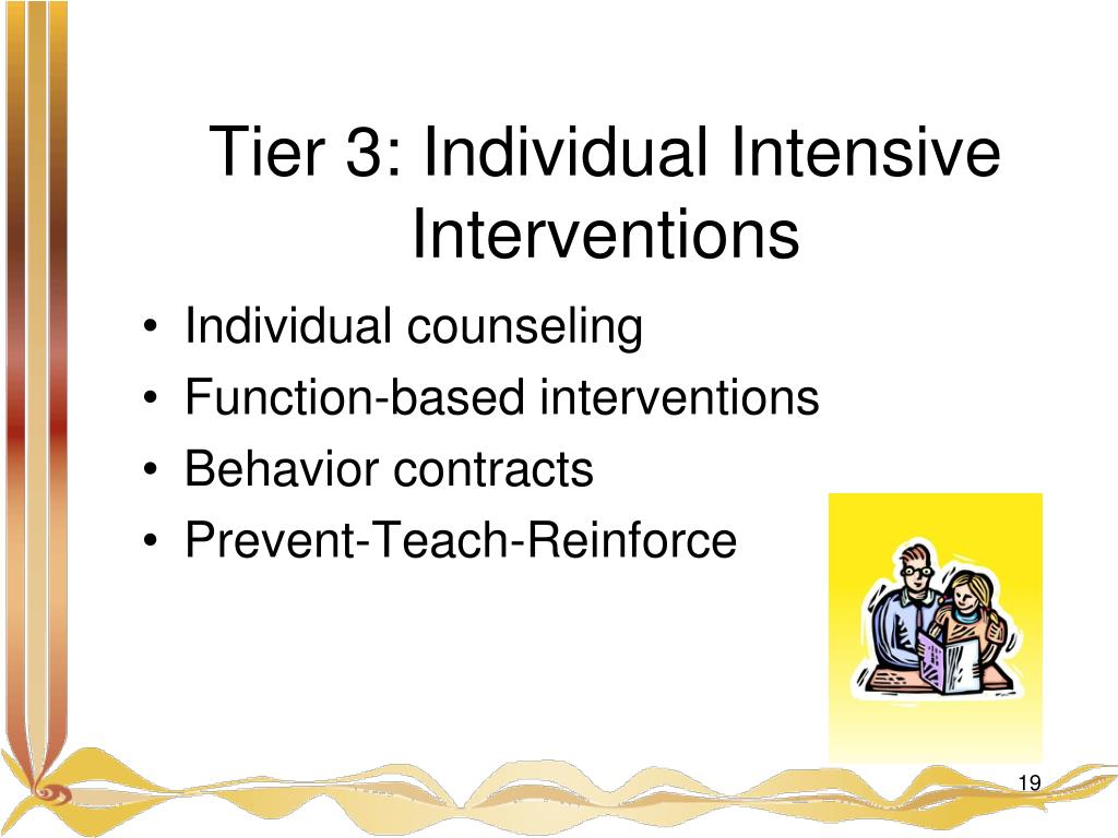 Tier 3: Individual Intensive Interventions