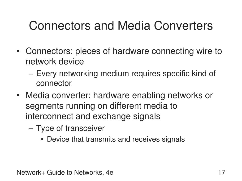Connectors and Media Converters