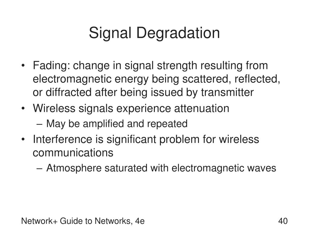 Signal Degradation
