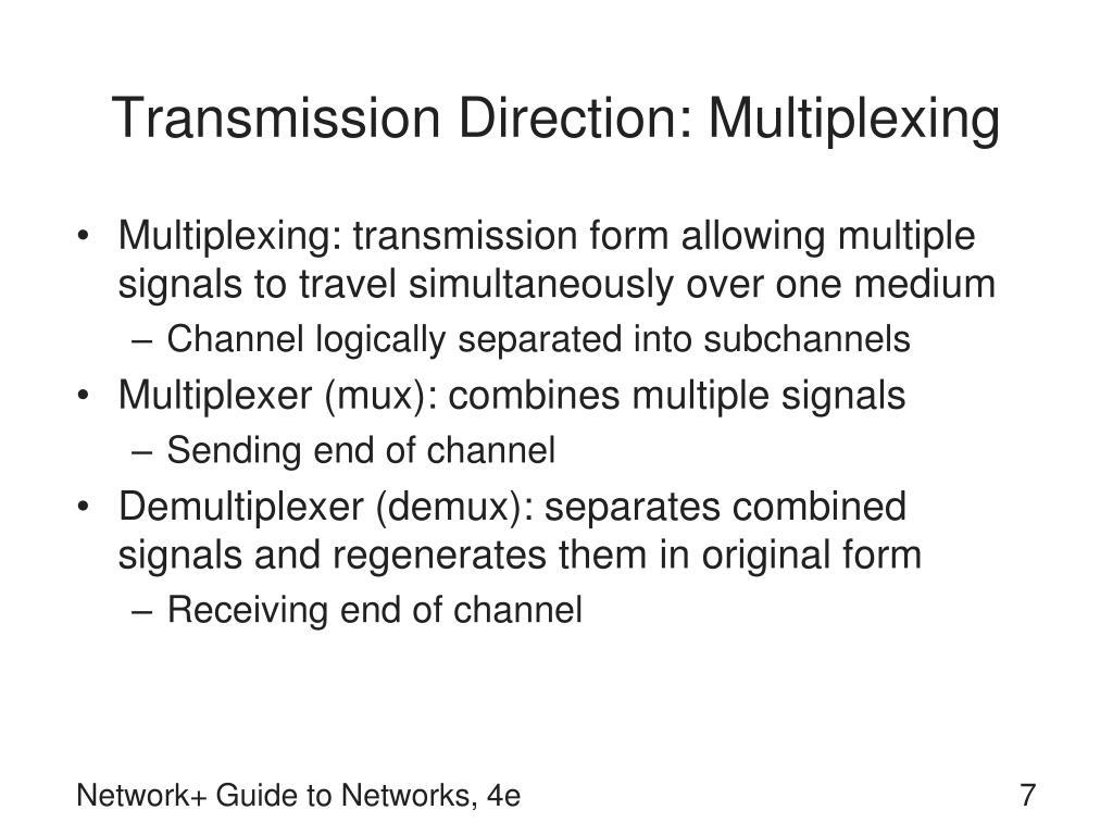 Transmission Direction: Multiplexing