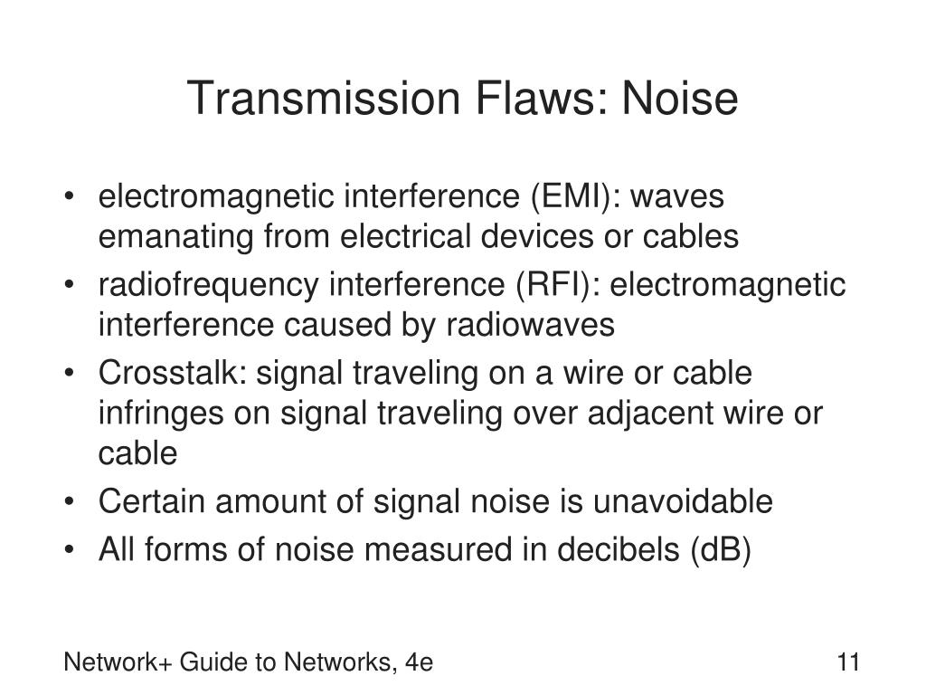 Transmission Flaws: Noise