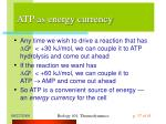 atp as energy currency