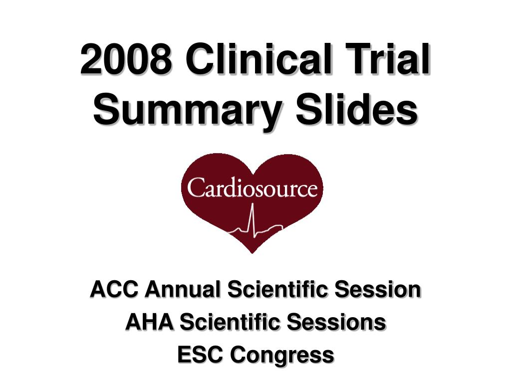 2008 Clinical Trial