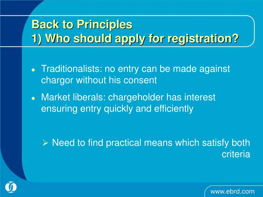 Back to Principles