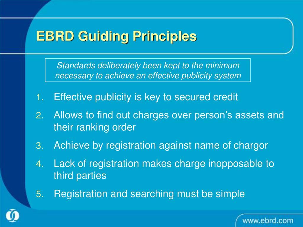 EBRD Guiding Principles