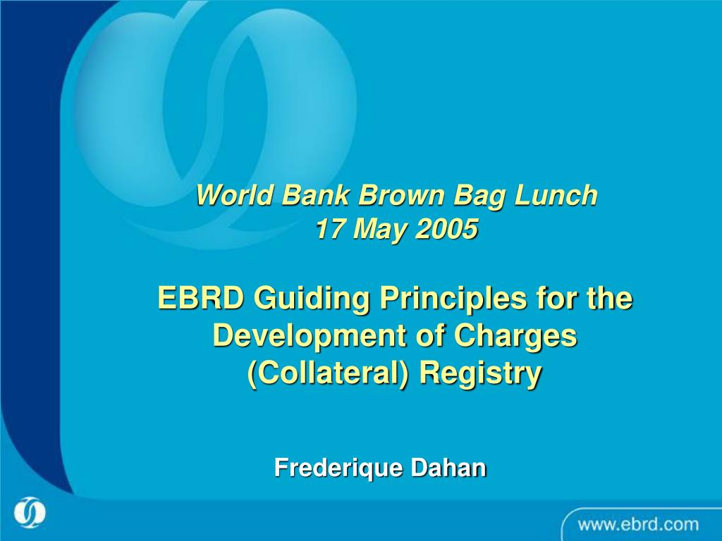 World Bank Brown Bag Lunch