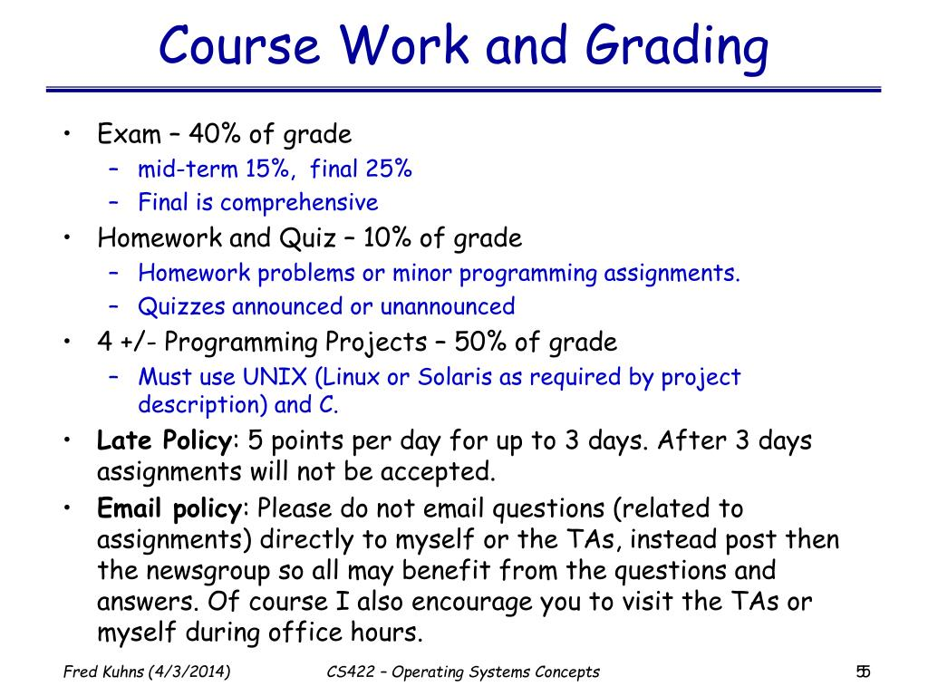 Course Work and Grading
