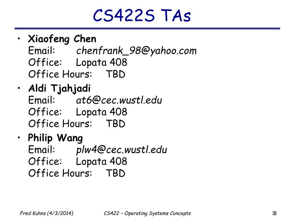 CS422S TAs