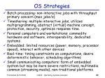 os strategies