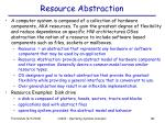 resource abstraction