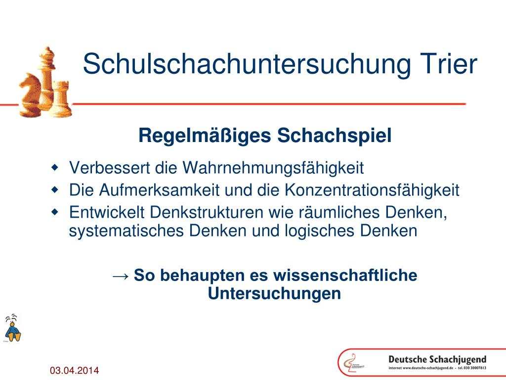 Schulschachuntersuchung Trier