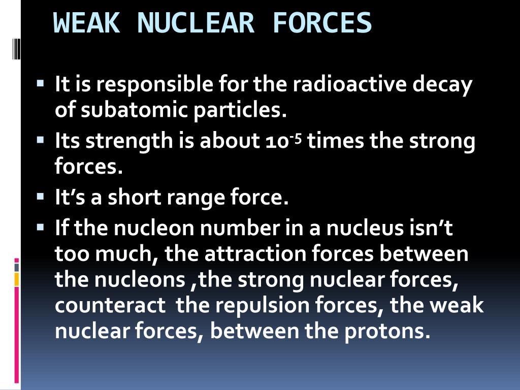 WEAK NUCLEAR FORCES