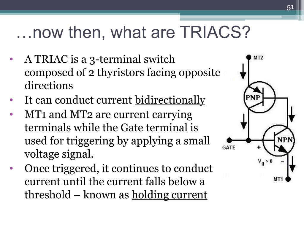 …now then, what are TRIACS?