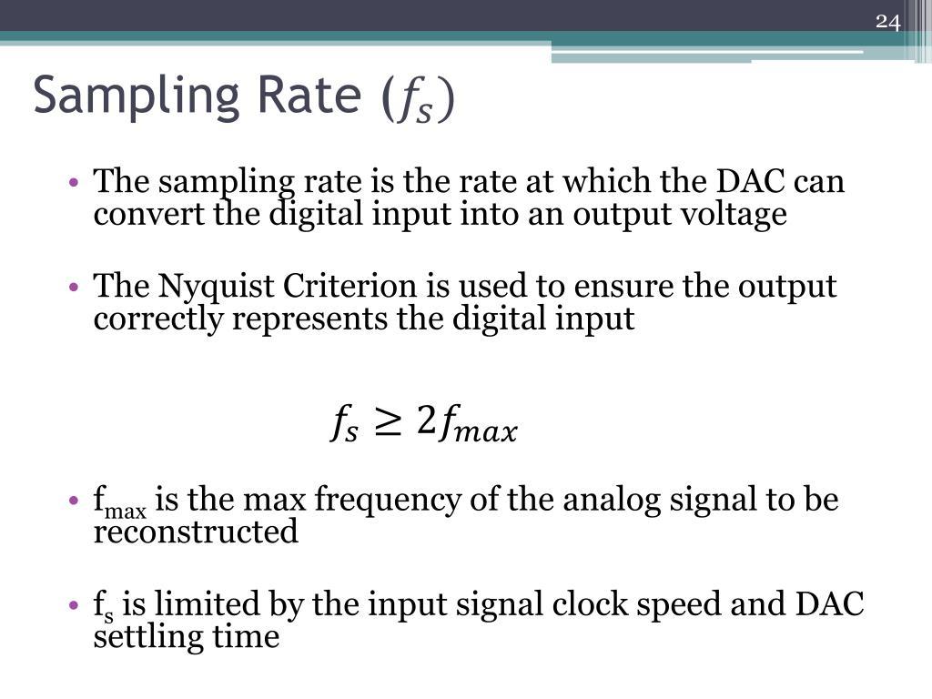 Sampling Rate (