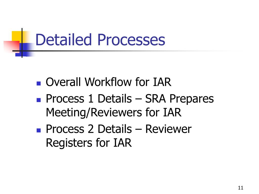 Detailed Processes