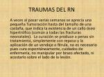 traumas del rn15