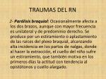 traumas del rn18