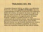traumas del rn21
