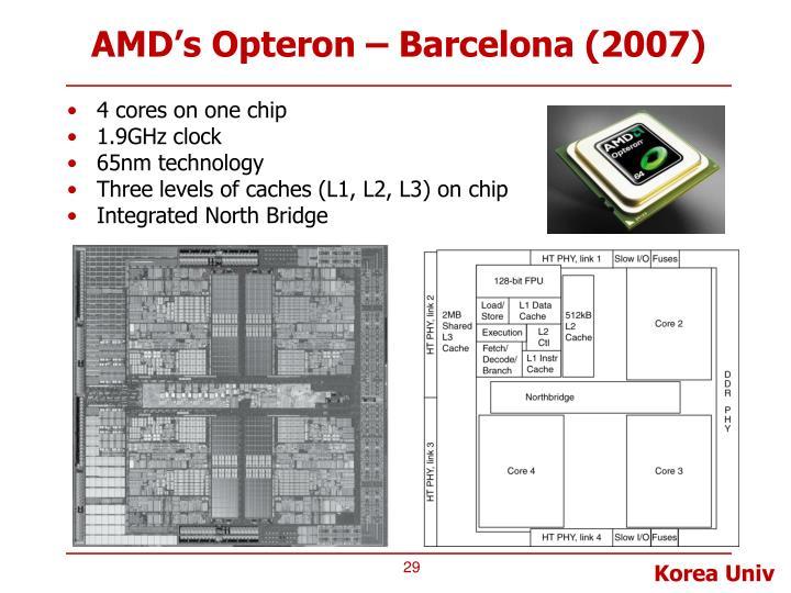 AMD's Opteron – Barcelona (2007)