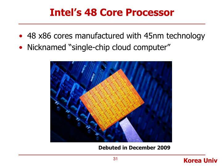 Intel's 48 Core Processor