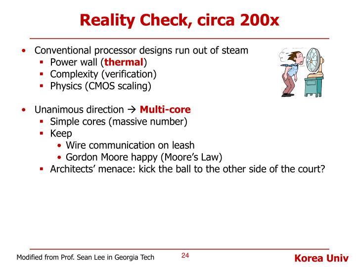 Reality Check, circa 200x