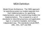mda definition