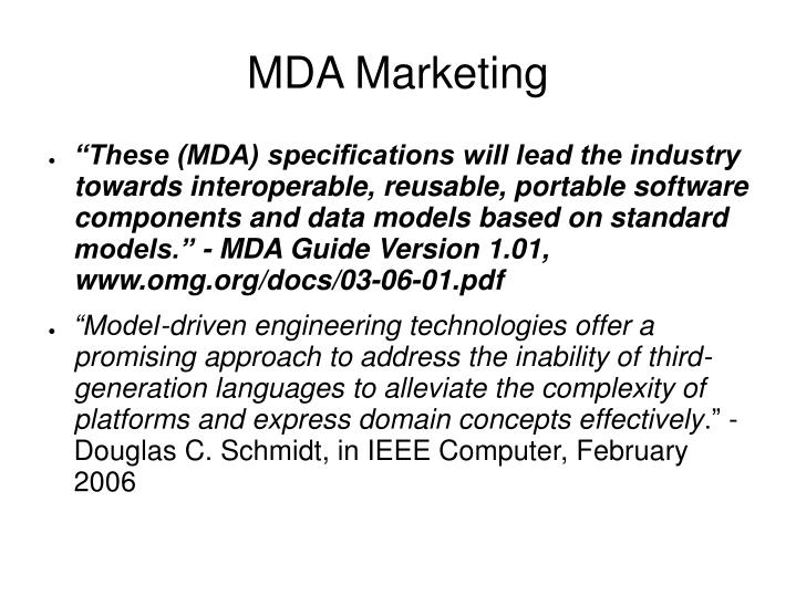 Mda marketing