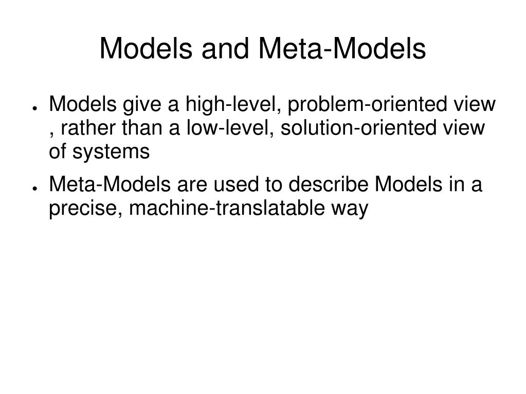 Models and Meta-Models