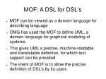 mof a dsl for dsl s
