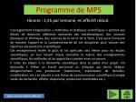 programme de mps