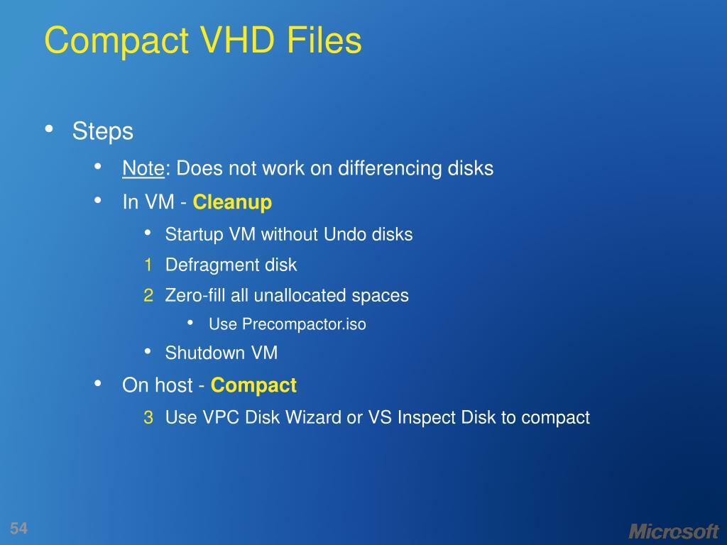 Compact VHD Files