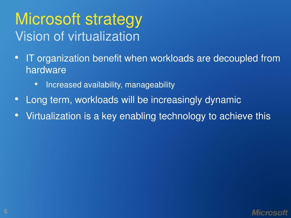 Microsoft strategy